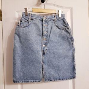 Dresses & Skirts - Vintage Hollywood Front-slit denim skirt